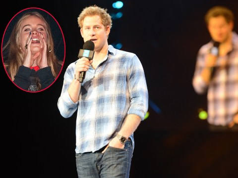 Pictures: Cressida Bonas heckles 'boyfriend' Prince Harry at  We Day UK 2014