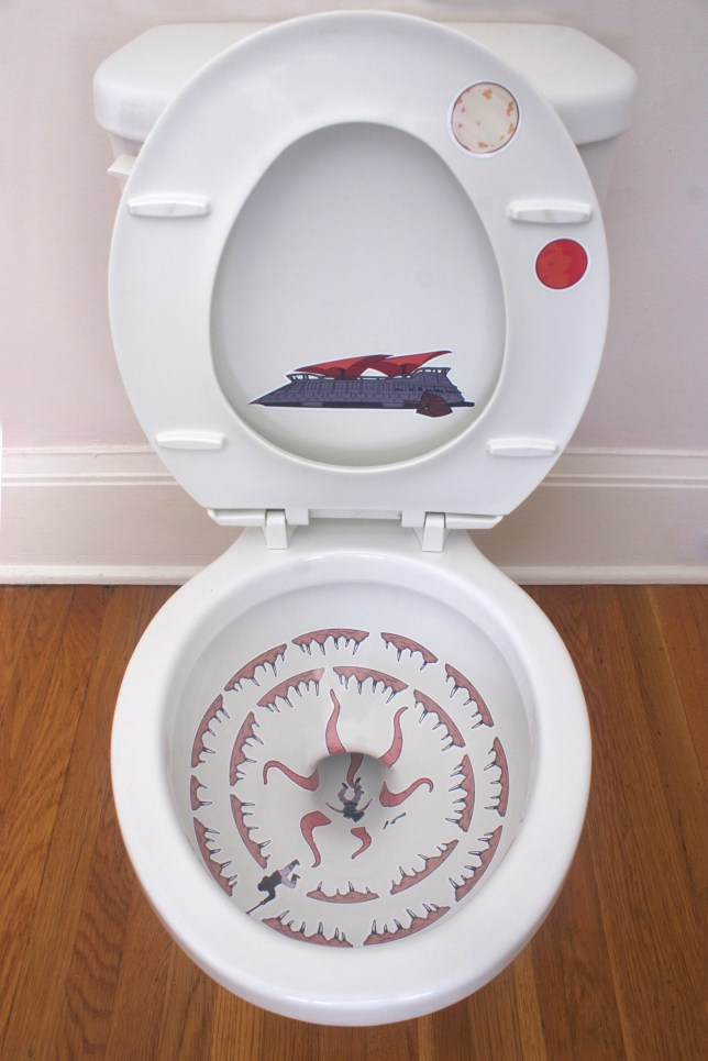 Turn your toilet into a sarlacc pit with this sticker set (Picture: Robbie Rane)