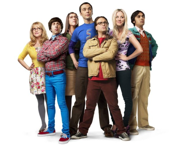 Television programme: The Big Bang Theory Yr7  Kaley Cuoco, Jim Parsons, Mayim Bialik, Johnny Galecki, Melissa Rauch, Kunal Nayyar and Simon Helberg
