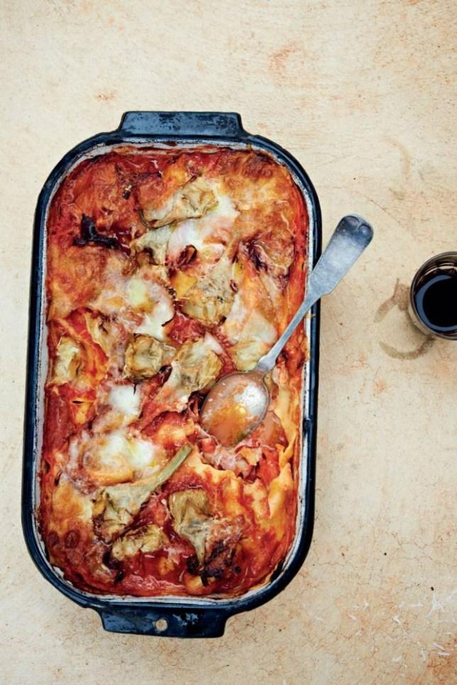 Bill Granger's ham and artichoke lasagne (Picture: Mikkel Vang)