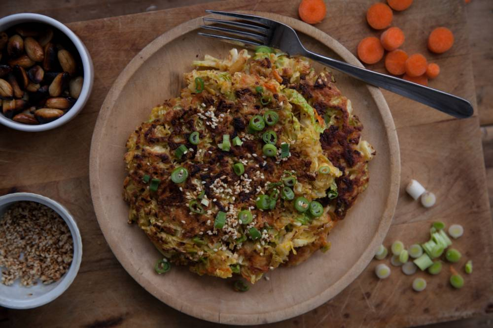 Vegetarian fritters recipe: How to cook leek, ginger and cabbage fritters with soy sauce