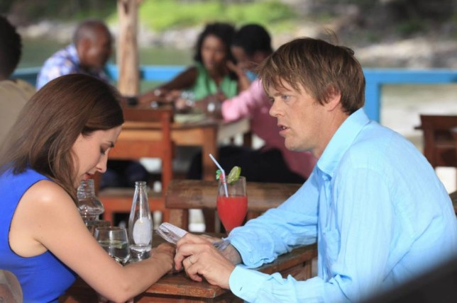 Morven Christie and Kris Marshall in Death in Paradise (Picture: Denis Guyenon)