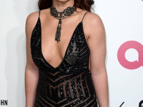 Britney Spears, Kim Kardashian and Heidi Klum compete for best cleavage at Oscars bash