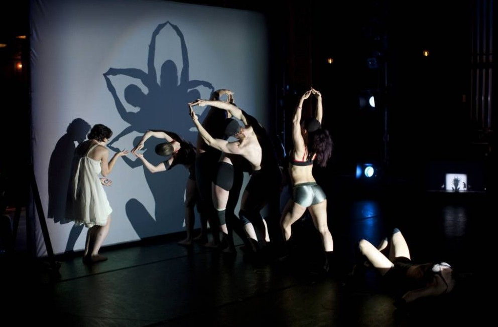Shadlowland at Sadler's Well mixes dance with silhouette performances (Picture: John Kane)