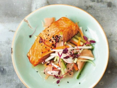 Recipe: How to make Diana Henry's teriyaki salmon with pickled vegetables