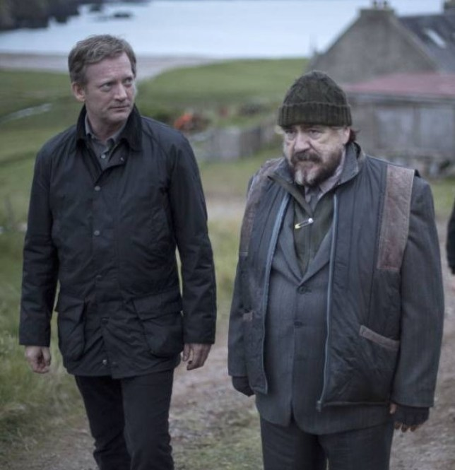 Douglas Henshall as Jimmy Perez with Brian Cox as Magnus Bain in detective drama Shetland (Picture: ITV/Mark Mainz)