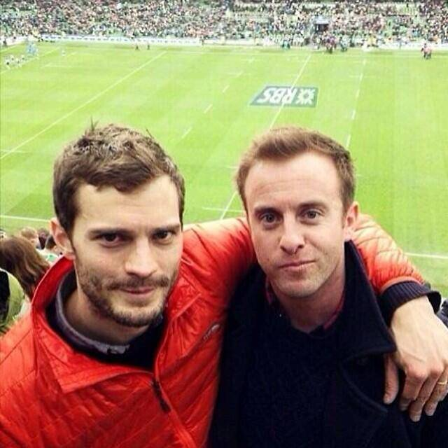 Jamie Dornan takes break from 50 Shades of Grey to cheer on Ireland in the Six Nations