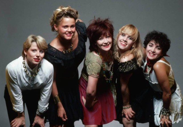 Belinda Carlisle, second from left, with The Go-Gos in 1981 (Picture: Corbis)