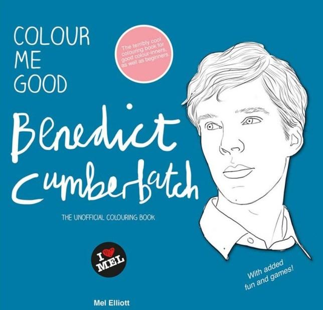 Benedict Cumberbatch colouring book