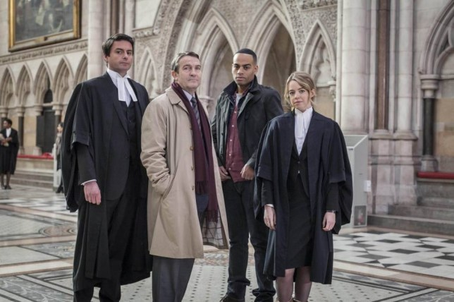 Dominic Rowan, Bradley Walsh, Ben Bailey Smith and Georgia Taylor in Hawkins in Law & Order: UK (Picture: ITV)