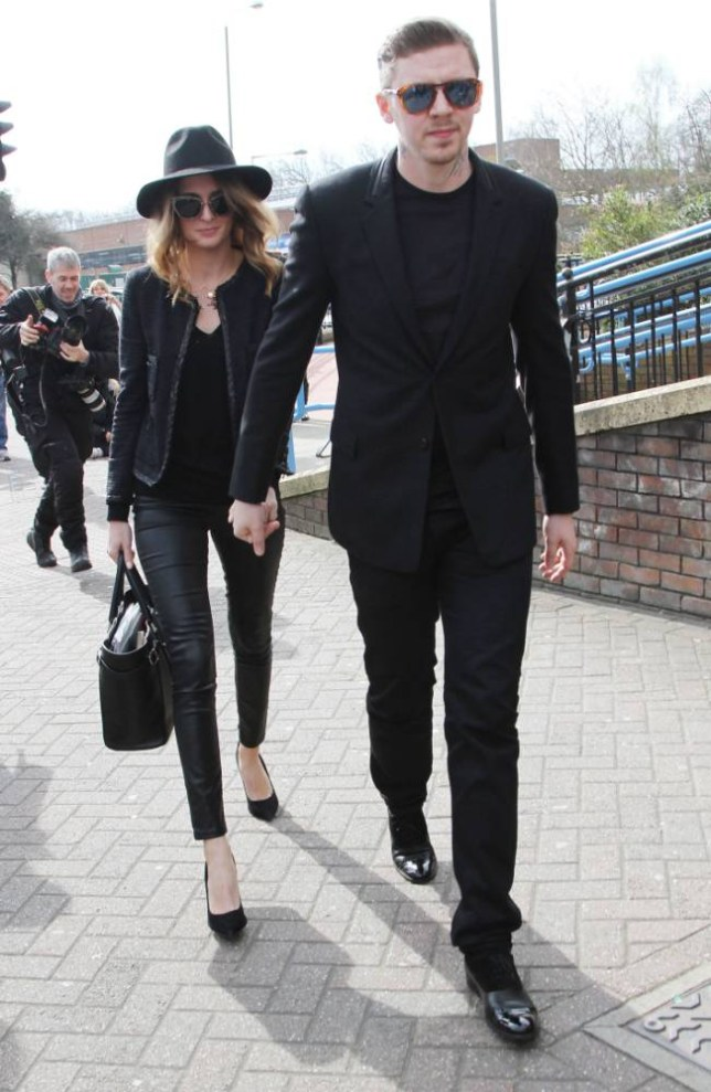 Safety fears: Prof Green and his wife Millie Mackintosh arrive at Bromley magistrates' court (Picture: Xposure)