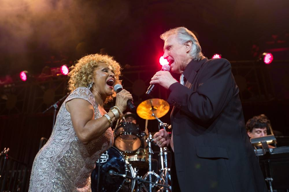 Darlene Love with Bill Medley of the Righteous Brothers (Picture: Supplied)