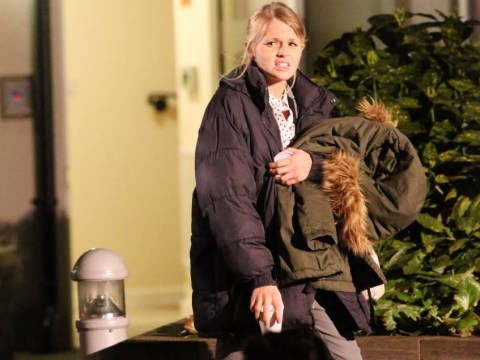 Hetti Bywater pictured filming Lucy Beale's final scenes before her grisly murder in EastEnders