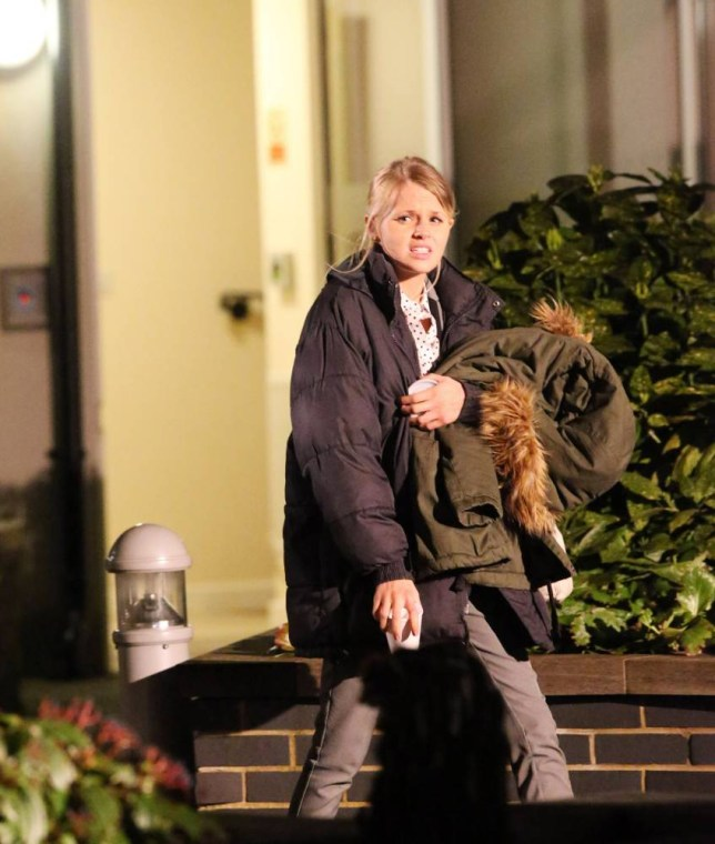 EXCLUSIVE ALL ROUND. Big Eastenders Spoiler Lucy Beale (Hetti Bywater) pictured filming what is believed to be her last scenes before getting murdered. She is believed to be attending a flat viewing with possibly her killer. STRICTLY NO INTERNET OR ONLINE USAGE UNTIL AGREED WITH THIS OFFICE BYLINE : ISOIMAGES must be used