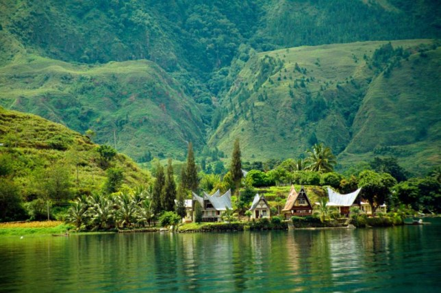 Lake Toba, in Sumatra, is the largest volcanic lake in the world (Picture: Alamy)