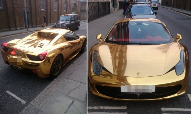 This £200,000 gold Ferrari convertible is fit for a kickboxing champion