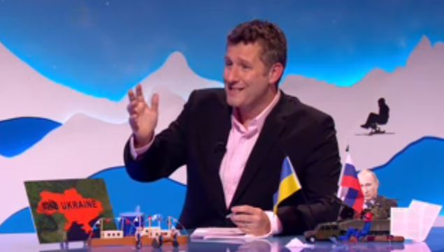 Adam Hills let rip at Paddy Power in an amusing rant (Picture: Channel 4)