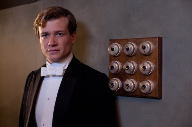 Ed Speleers plays Jimmy Kent in Downton Abbey (Picture: ITV)