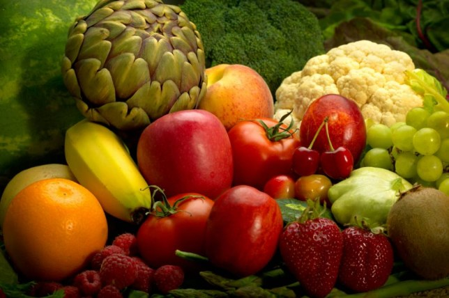 People eating at least seven portions of fresh fruit and vegetables reduced their overall risk of death (Picture: File/Alamy)