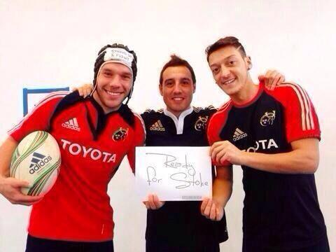 Arsenal fans troll Stoke City with 'ready for Stoke' rugby picture