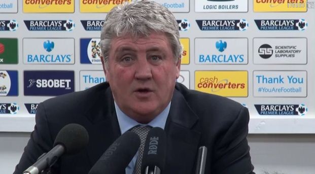 Watch Steve Bruce's priceless reaction as he halts press conference to drool over Wayne Rooney goal against West Ham