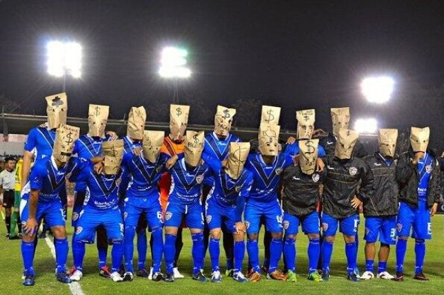 Celaya players made their point (Picture: Twitter)