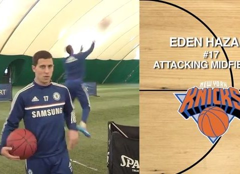 Eden Hazard finds a sport he's bad at as Chelsea star fails basketball challenge