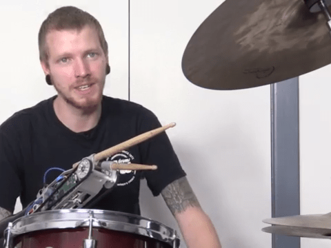 Robotic drumstick transforms amputee into a 'cyborg' musician