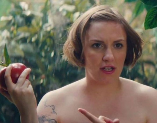 Lena Dunham isn't shy about stripping off (Picture: NBC)