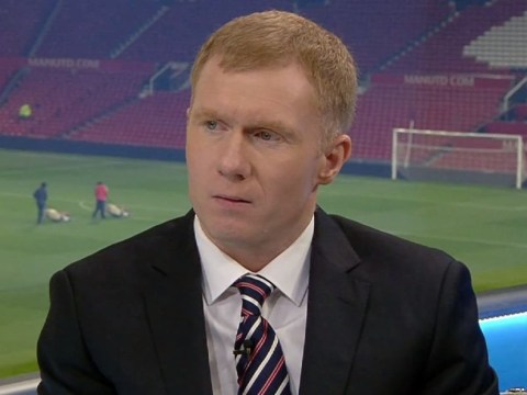 What is Paul Scholes actually achieving from his continued public criticism of Louis van Gaal and Manchester United?