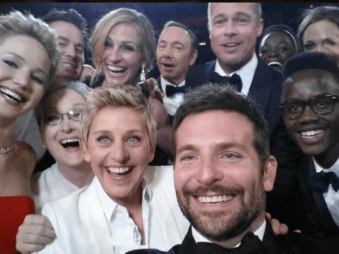 Ellen DeGeneres crashes Twitter with most A-list Oscars 'selfie' ever