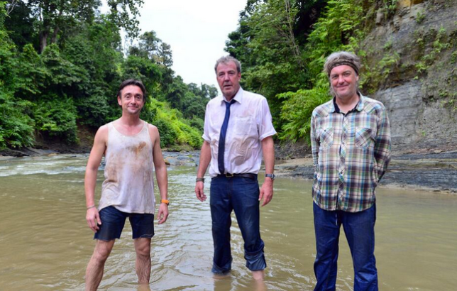 The Top Gear boys get to grips with Burma (Picture: BBC)