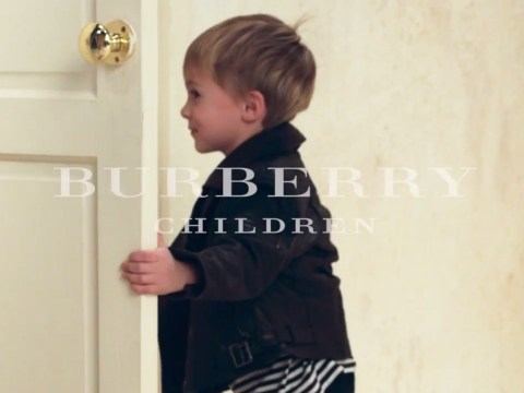 Look how cute these kids are in mini Burberry trenches
