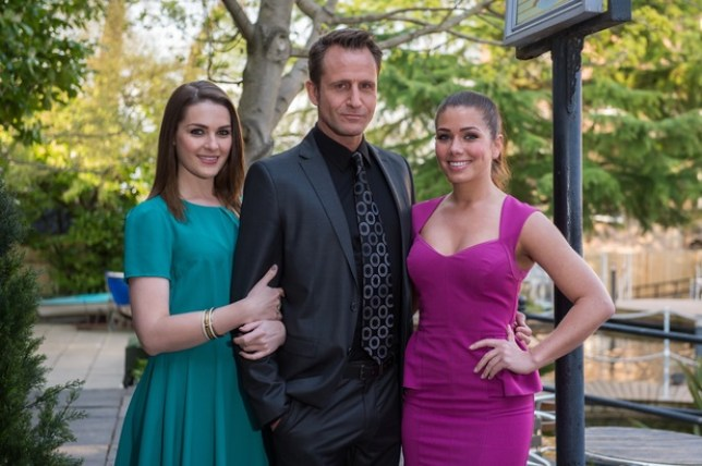 Anna Passey as Sienna Blake with father Patrick (Jeremy Sheffield) and future step mother Maxine (Picture: Lime Pictures)