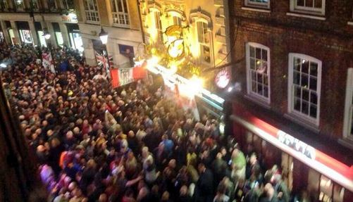 Thousands of Sunderland fans take over Covent Garden ahead of the Capital One Cup Final with Manchester City