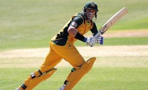 Mike Hussey won the game with a six (Allstar)