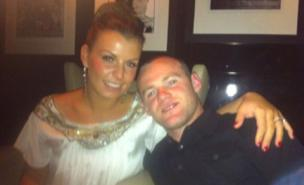 Wayne Rooney celebrated the title with Coleen (Twitter)