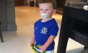 Kai Rooney in his Everton shirt. (Twitter)