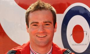Flt Lt Jon Egging was killed when his Red Arrow crashed (MoD)