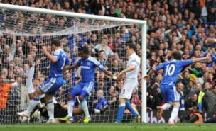 Juan Mata scored a controversial last-gasp winner for Chelsea (PA)