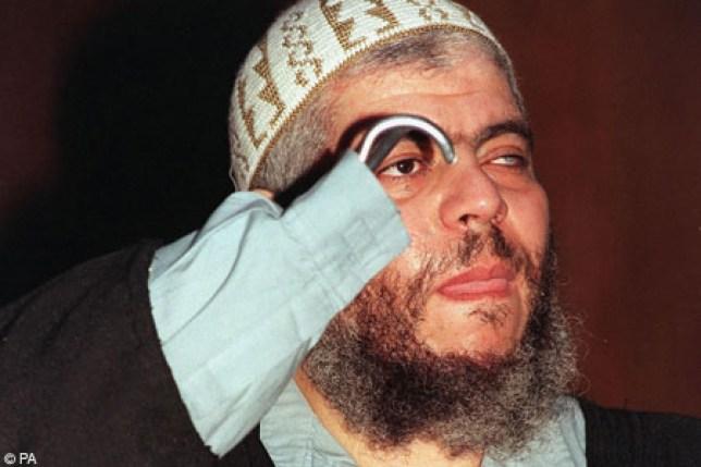 Convicted: Hate preacher Abu Hamza (Picture: File)