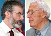 Gerry Adams and Ian Paisley