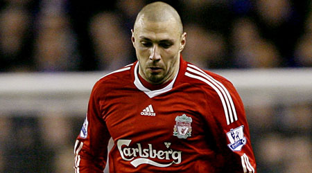 Homesick: Dossena struggled to settle during his first season at Anfield