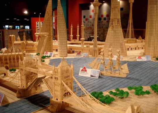 Take your picks! Stan Munro used millions of toothpicks to create these famous landmarks