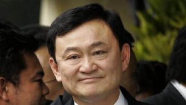 Former Thai prime minister Thaksin Shinawatra.