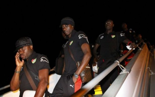 The Togo players return home
