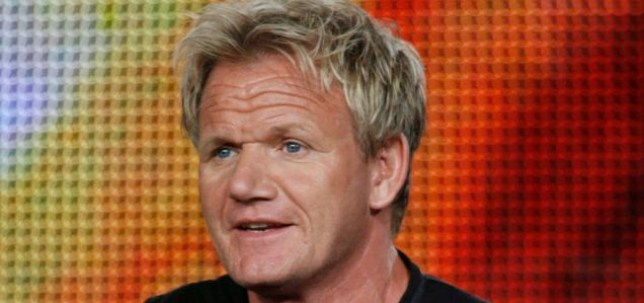 """Chef Gordon Ramsay, star of the new program """"Gordon Ramsay: Cookalong Live"""", discusses the show at the Fox Summer Television Critics Association press tour in Pasadena, California August 6, 2009. REUTERS/Fred Prouser (UNITED STATES ENTERTAINMENT FOOD SOCIETY)"""
