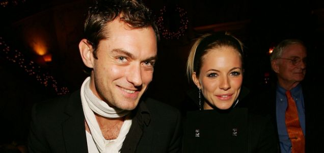 """Actor Jude Law and actress Sienna Miller attend the """"Casanova"""" special screening after party at The Metropolitan Club December 11, 2005 in New York City.  (Photo by Evan Agostini/Getty Images) *** Local Caption *** Jude Law;Sienna Miller EOS1DMkII-233268 NEW YORK - DECEMBER 11:  (HOLLYWOOD REPORTER AND US TABS OUT) screening opening red carpet movie film party 56401185"""