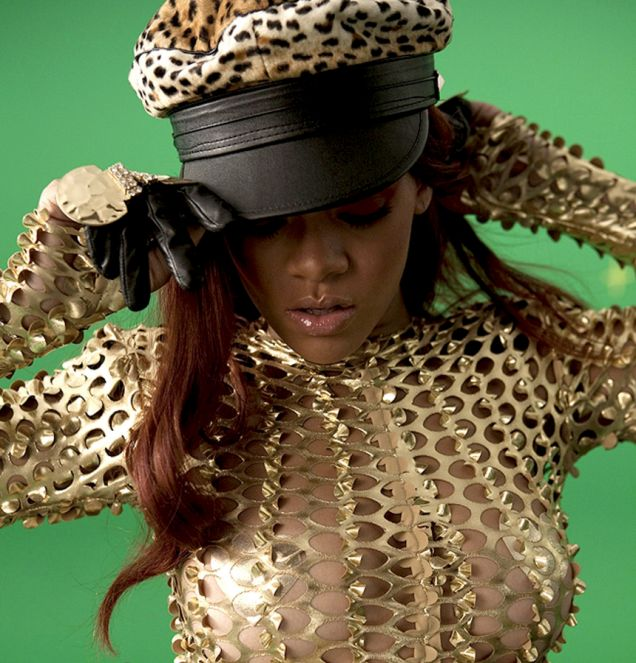 Rihanna vamps it up in the video for Rude Boy