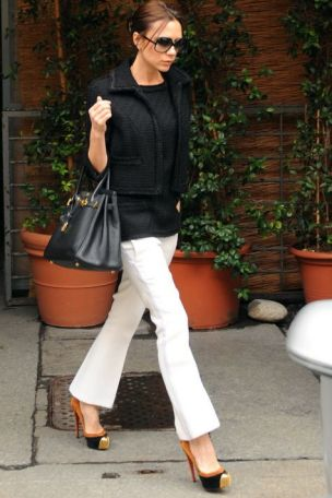 Victoria Beckham in her Christian Louboutins